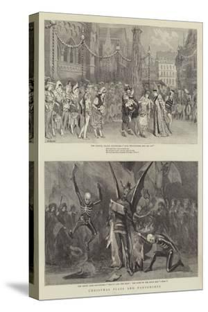 Christmas Plays and Pantomimes-Robert Barnes-Stretched Canvas Print
