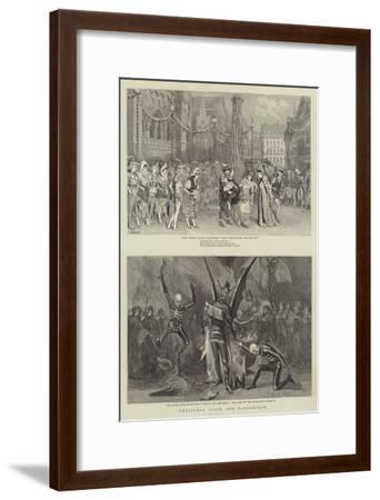Christmas Plays and Pantomimes-Robert Barnes-Framed Giclee Print