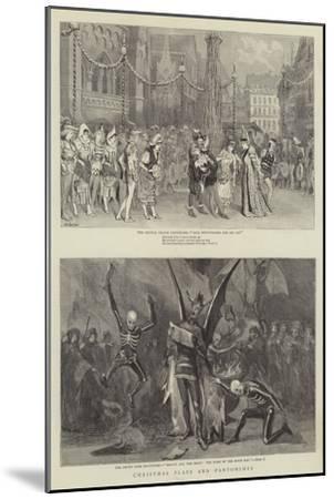 Christmas Plays and Pantomimes-Robert Barnes-Mounted Giclee Print