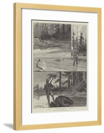 Sport in Alaska, with Salmon and Bear-Richard Caton Woodville II-Framed Giclee Print