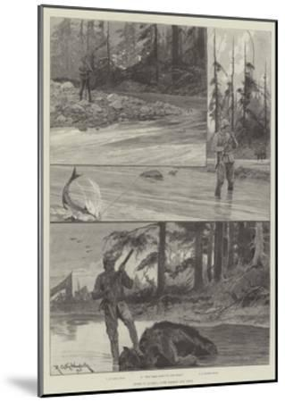 Sport in Alaska, with Salmon and Bear-Richard Caton Woodville II-Mounted Giclee Print