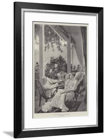 Dolce Far Niente, Life in an Indian Bungalow-Richard Caton Woodville II-Framed Giclee Print