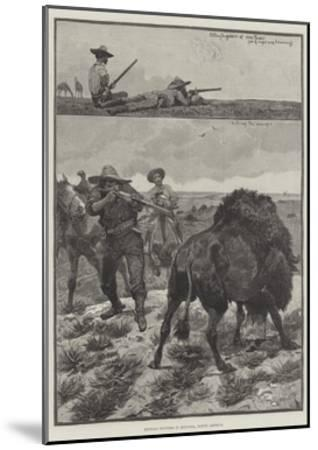 Buffalo Hunters in Montana, North America-Richard Caton Woodville II-Mounted Giclee Print