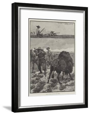 Buffalo Hunters in Montana, North America-Richard Caton Woodville II-Framed Giclee Print