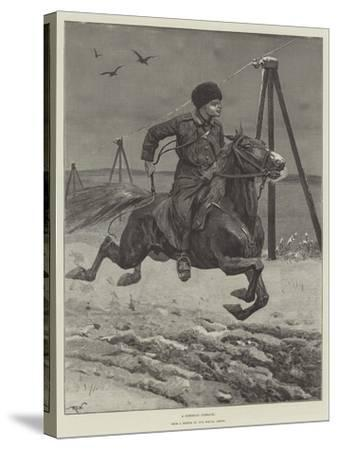A Siberian Cossack-Richard Caton Woodville II-Stretched Canvas Print