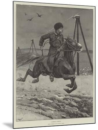 A Siberian Cossack-Richard Caton Woodville II-Mounted Giclee Print