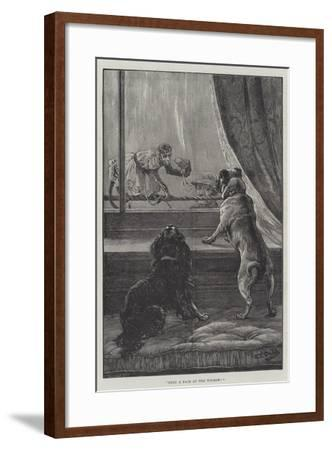Only a Face at the Window-S^t^ Dadd-Framed Giclee Print