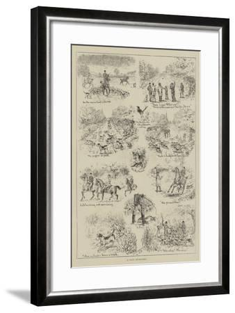 A Day's Cub-Hunting-S^t^ Dadd-Framed Giclee Print