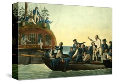 Mutineers Turning Lieutenant Bligh and Part of the Officers and Crew from His Majesty's Ship the Bo-Robert Dodd-Stretched Canvas Print