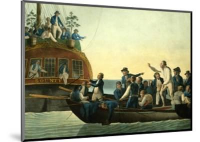 Mutineers Turning Lieutenant Bligh and Part of the Officers and Crew from His Majesty's Ship the Bo-Robert Dodd-Mounted Giclee Print