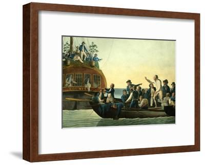 Mutineers Turning Lieutenant Bligh and Part of the Officers and Crew from His Majesty's Ship the Bo-Robert Dodd-Framed Giclee Print