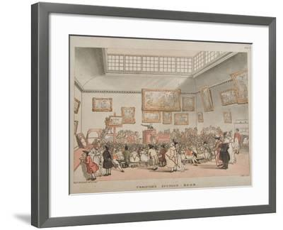 Christie's Auction Room, 1808- Rowlandson & Pugin-Framed Giclee Print