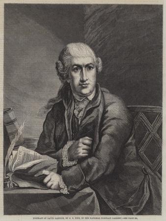 Portrait of David Garrick-Robert Edge pine-Framed Giclee Print