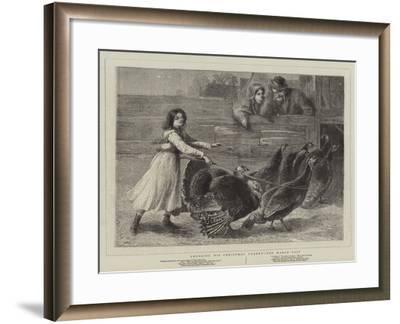 Choosing His Christmas Turkey, the March Past-Samuel Edmund Waller-Framed Giclee Print