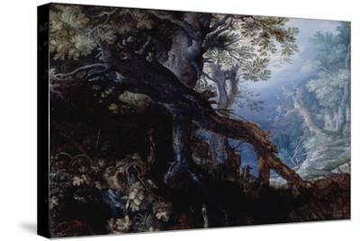 Forest with Deer, C.1608-10-Roelandt Jacobsz^ Savery-Stretched Canvas Print
