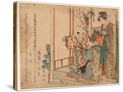 Hatsu Isho O Kiru Kodomo-Ryuryukyo Shinsai-Stretched Canvas Print
