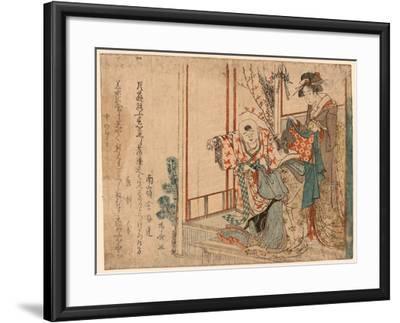 Hatsu Isho O Kiru Kodomo-Ryuryukyo Shinsai-Framed Giclee Print