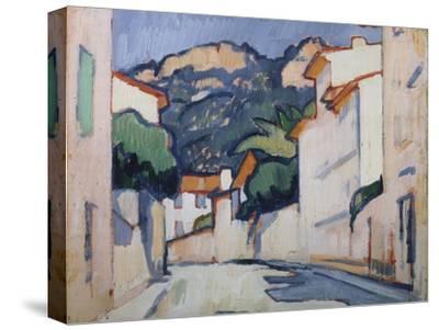 Streetscene, Cassis, C.1913-Samuel John Peploe-Stretched Canvas Print