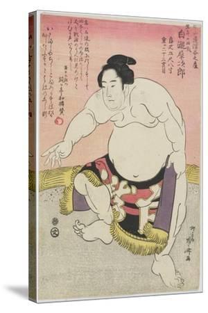 The Sumo Wrestler Shirataki Saijiro-Ryuryukyo Shinsai-Stretched Canvas Print