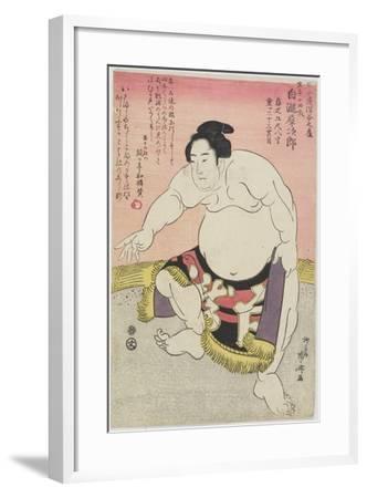 The Sumo Wrestler Shirataki Saijiro-Ryuryukyo Shinsai-Framed Giclee Print