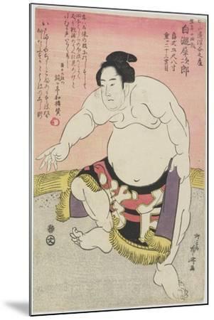 The Sumo Wrestler Shirataki Saijiro-Ryuryukyo Shinsai-Mounted Giclee Print