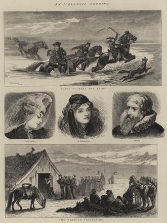 An Icelandic Wedding-Samuel Edmund Waller-Framed Giclee Print