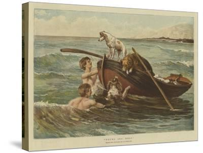Young Sea Dogs-Samuel Edmund Waller-Stretched Canvas Print