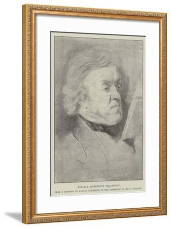 William Makepeace Thackeray-Samuel Lawrence-Framed Giclee Print