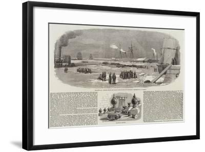 The Ice at Cronstadt and Sebastopol Trophies-Robert Thomas Landells-Framed Giclee Print