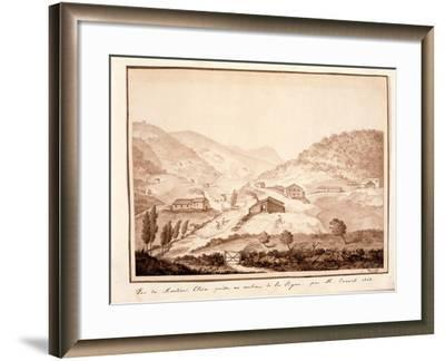 View of Montioni, Taken from the Middle of the Vine, 1812-Salomon Guillaume Counis-Framed Giclee Print