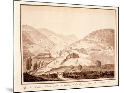 View of Montioni, Taken from the Middle of the Vine, 1812-Salomon Guillaume Counis-Mounted Giclee Print