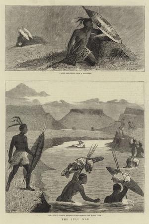 The Zulu War-Samuel Edmund Waller-Stretched Canvas Print