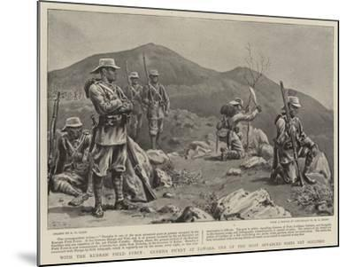 With the Kurram Field Force, Gurkha Picket at Dawaba, One of the Most Advanced Posts Yet Occupied-S^t^ Dadd-Mounted Giclee Print
