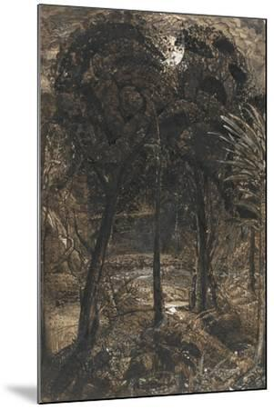 A Moonlit Scene with a Winding River, 1827-Samuel Palmer-Mounted Giclee Print