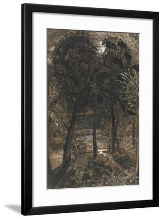A Moonlit Scene with a Winding River, 1827-Samuel Palmer-Framed Giclee Print