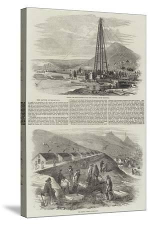 The Navvies at Balaclava-Robert Thomas Landells-Stretched Canvas Print