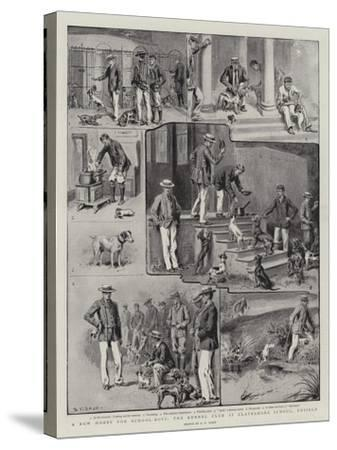 A New Hobby for School-Boys, the Kennel Club at Clayesmore School, Enfield-S^t^ Dadd-Stretched Canvas Print