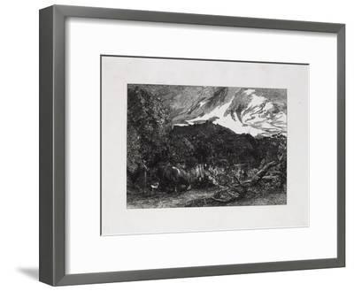 The Weary Ploughman, 1858-Samuel Palmer-Framed Giclee Print