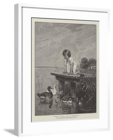 Young Ducks-Robert Julius Beyschlag-Framed Giclee Print