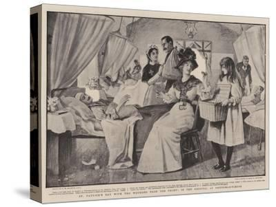 St Patrick's Day with the Wounded from the Front, in the Hospital at Pietermaritzburg-Robert Walker Macbeth-Stretched Canvas Print