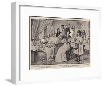 St Patrick's Day with the Wounded from the Front, in the Hospital at Pietermaritzburg-Robert Walker Macbeth-Framed Giclee Print