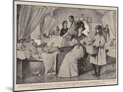 St Patrick's Day with the Wounded from the Front, in the Hospital at Pietermaritzburg-Robert Walker Macbeth-Mounted Giclee Print