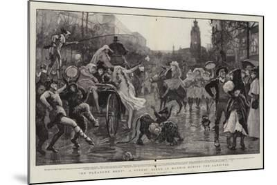 On Pleasure Bent, a Street Scene in Madrid During the Carnival-Robert Walker Macbeth-Mounted Giclee Print