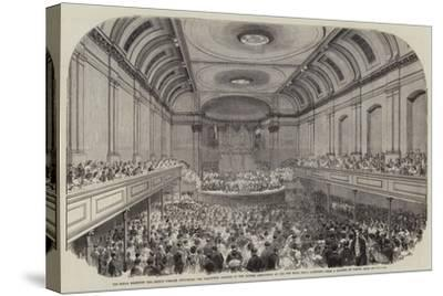 His Royal Highness the Prince Consort Delivering the Inaugural Address to the British Association a-Samuel Read-Stretched Canvas Print