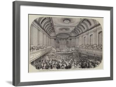 His Royal Highness the Prince Consort Delivering the Inaugural Address to the British Association a-Samuel Read-Framed Giclee Print