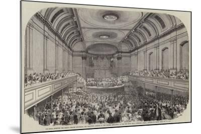 His Royal Highness the Prince Consort Delivering the Inaugural Address to the British Association a-Samuel Read-Mounted Giclee Print