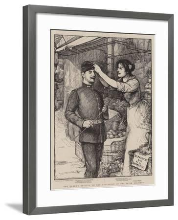 The Queen's Tribute to the Gallantry of Her Irish Soldiers-Robert Walker Macbeth-Framed Giclee Print