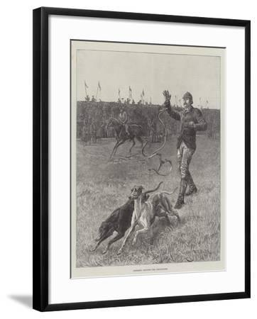 Coursing, Slipping the Greyhounds-S^t^ Dadd-Framed Giclee Print