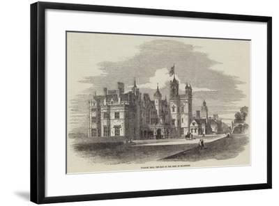 Worsley Hall, the Seat of the Earl of Ellesmere-Samuel Read-Framed Giclee Print