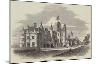Worsley Hall, the Seat of the Earl of Ellesmere-Samuel Read-Mounted Giclee Print